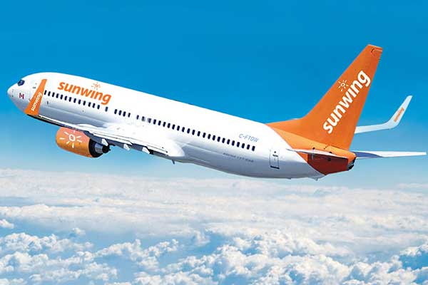 Sunwing Airlines Aircraft