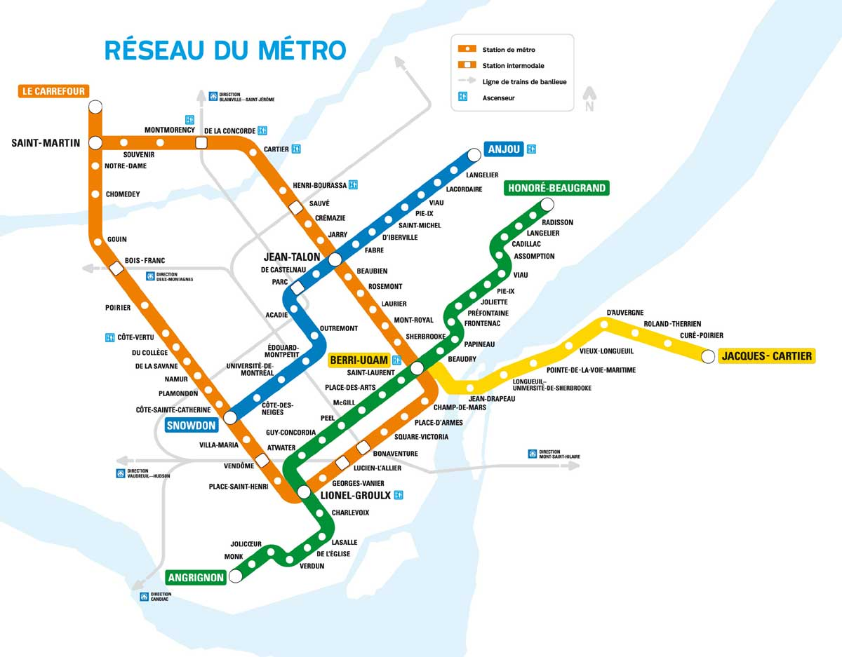 Montreal Visitor Information – Montreal Tourist Attractions Map