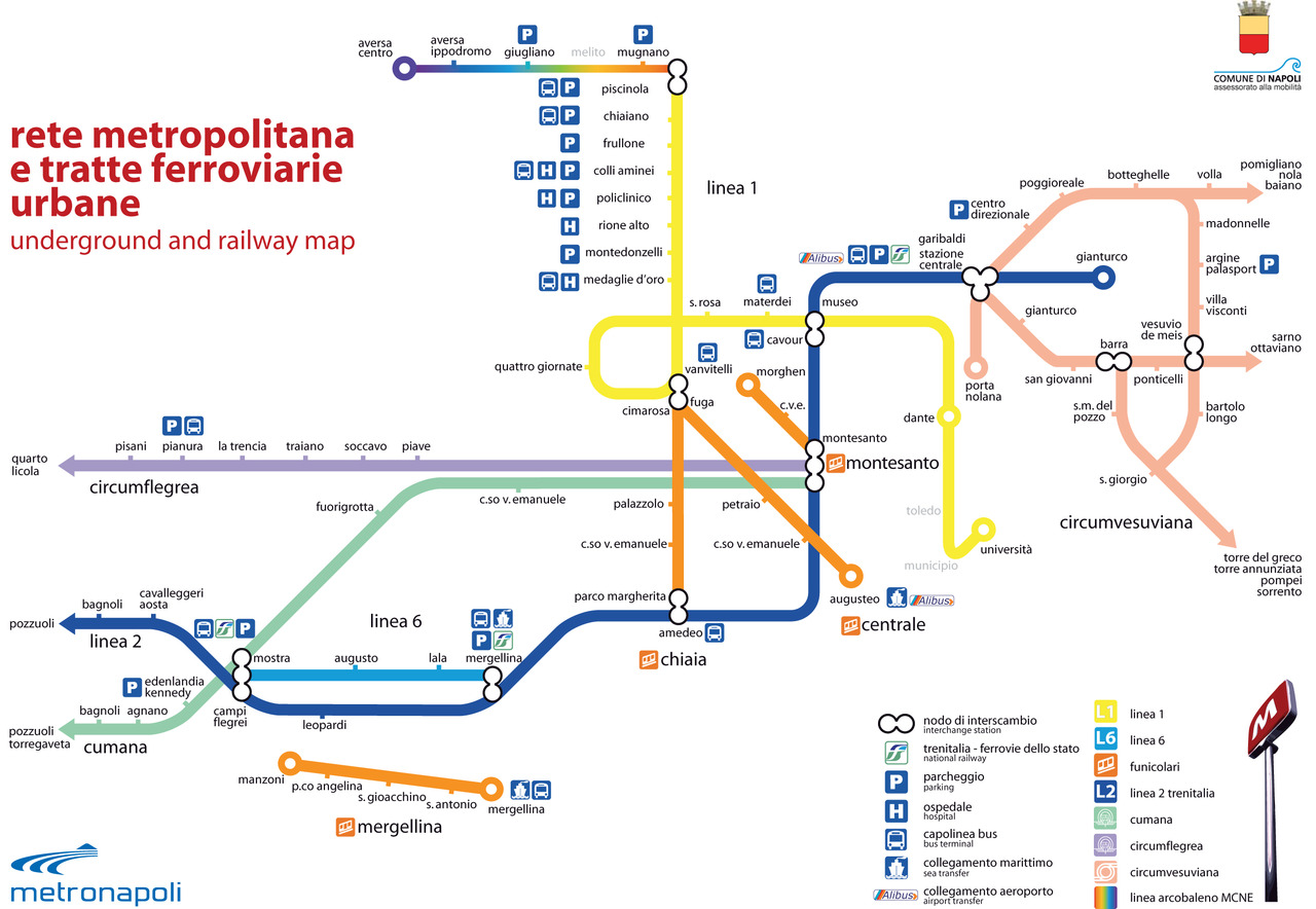 Italy Metro Map.Naples Travel Guide