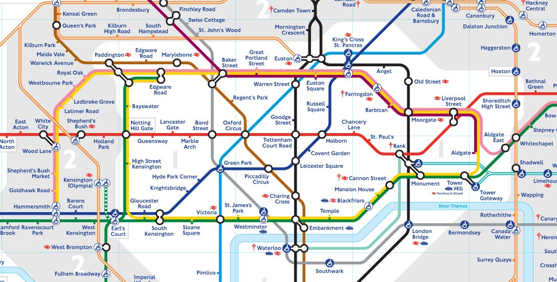 london tube underground map zones 1 2