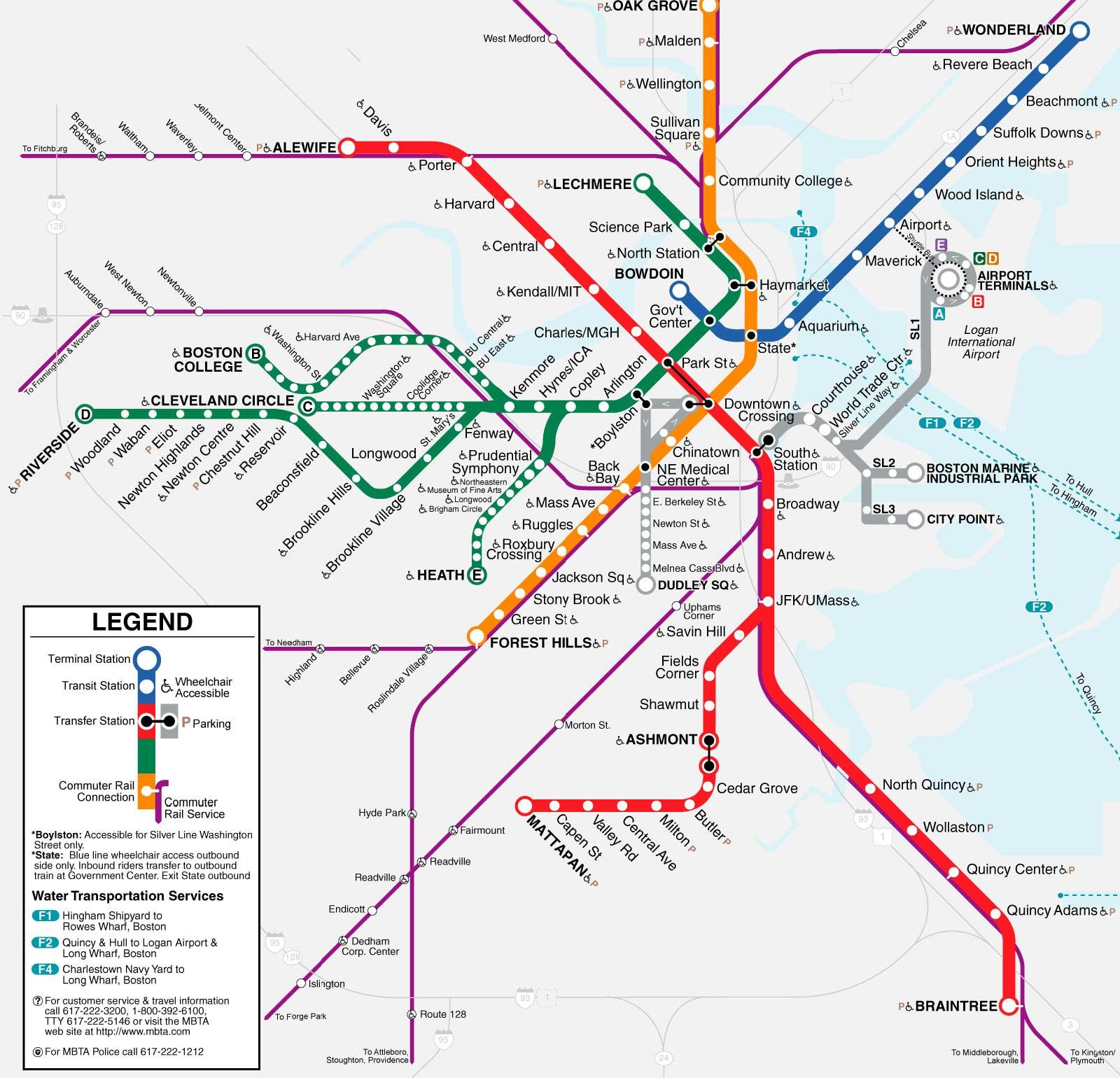 Boston Travel Guide - Boston usa map
