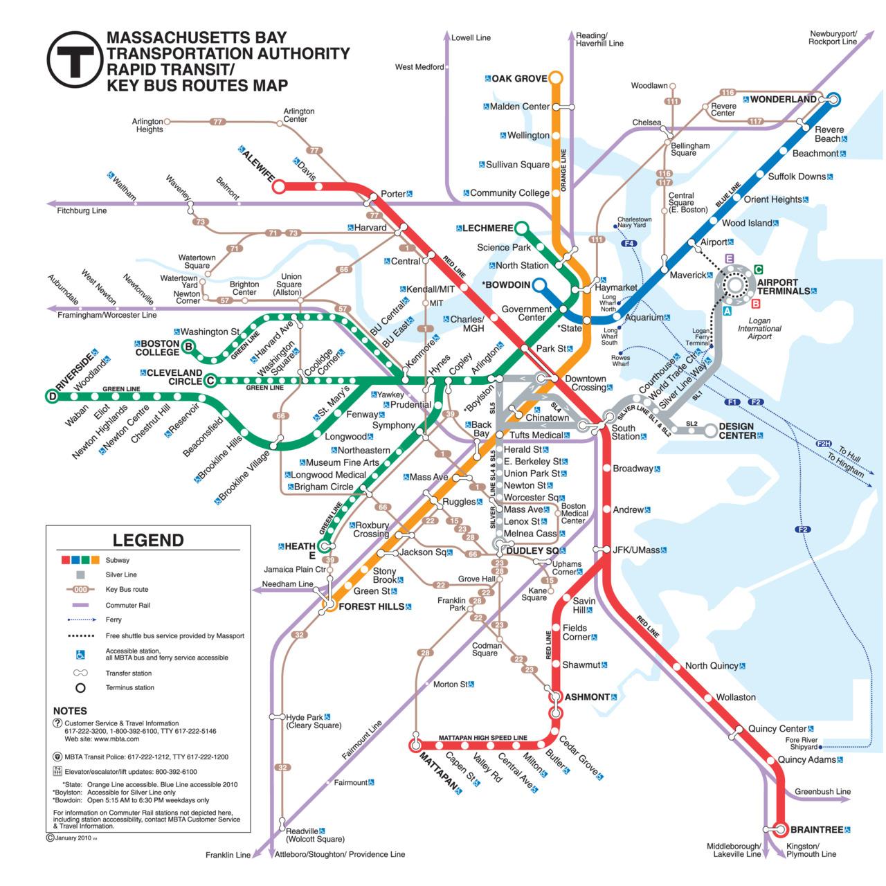 Boston Visitor Guide - Map of boston vicinity